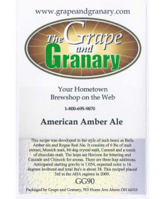 American Amber Ale: GG