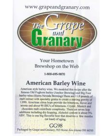 Barley Wine- American