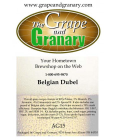 Belgian Abbey Dubbel: All Grain