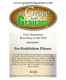 Pre Prohibition Pilsner: All Grain