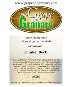 Dunkel Bock: All Grain
