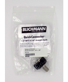 "Quick Connector (NPT to Barb) - 1/2"" x  3/8"""