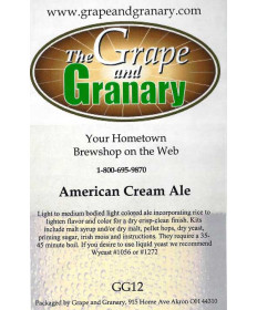 American Cream Ale: GG