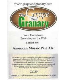 American Mosaic Pale Ale: GG