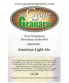 American Light Ale: GG
