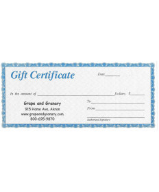 Gift Certificate- $10.00
