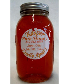 Kaspers Pure Local Honey- 3 lb jar