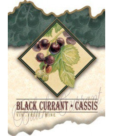 Black Currant Wine Label