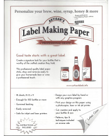 Label Making Paper- White