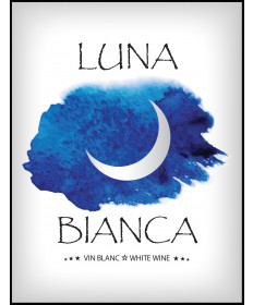 Luna Bianca - Wine Label