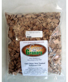 Oak Chips- Non Toasted 1 lb bag