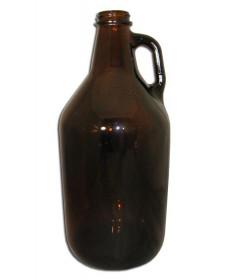 Half Gallon Glass Jug Amber