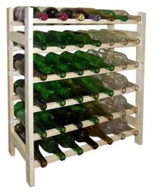 Wine Rack- 42 Bottle 7x6 Wooden