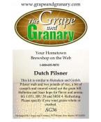 Dutch Pilsner: All Grain