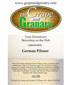 German Pilsner: All Grain