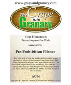 Pre Prohibition Pilsner: All Grain
