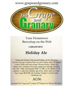 Holiday Ale: All Grain
