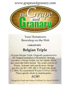 Belgian Triple: All Grain