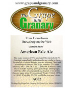 American Pale Ale: All Grain