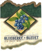 Blueberry Wine Label