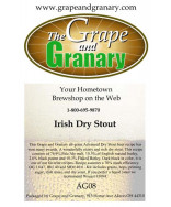 Dry Stout: All Grain