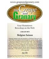 Belgian Saison: All Grain