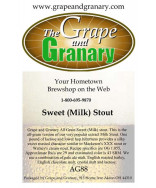 Sweet (Milk) Stout: All Grain
