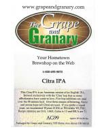 Citra IPA:  All Grain