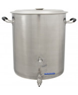 Brew Kettle14 Gal Kettle- w/Lid and Ball Valve
