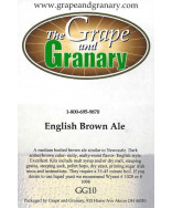 Brown Ale- G & G