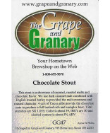 Chocolate Stout- G & G