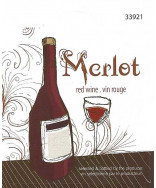 Merlot- Wine Label