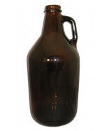 Half Gallon Glass Jug Amber