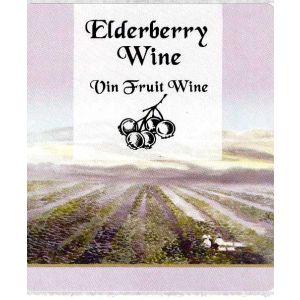 Elderberry Wine Label
