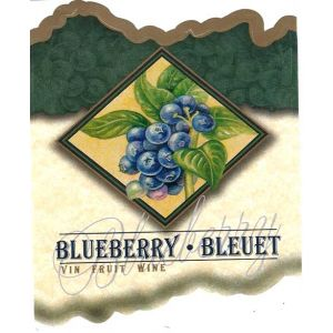 Blueberry Wine Label