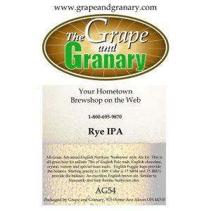 Rye IPA: All Grain