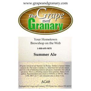 Summer Ale: All Grain
