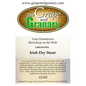 Dry Irish Stout- G & G