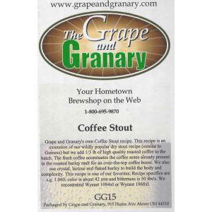 Stout- Coffee- G & G
