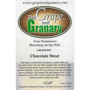 Chocolate Stout- G & G