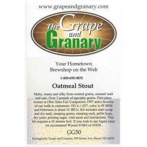 Oatmeal Stout- G & G
