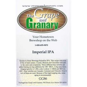 Imperial IPA: GG