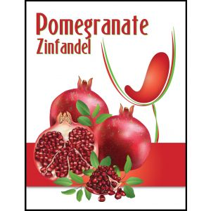 Pomegranate Zinfandel- Label