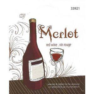 Merlot- Wine Label