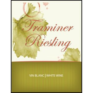 Traminer/Riesling Label-  (pack of 30)