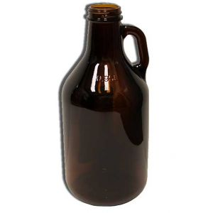 1/4 Gallon Glass Jug- Amber
