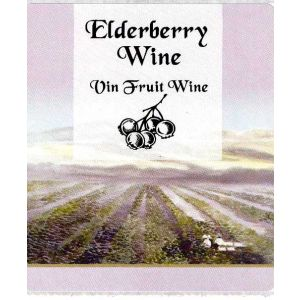 Elderberry Wine Label