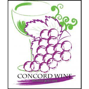 Concord Wine Label