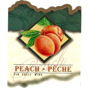 Peach Wine Label