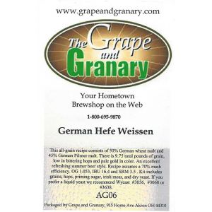 Hefe Weissen: All Grain
